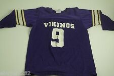 Vintage MN Minnesota Vikings Tommy Kramer 9 Jersey - Youth M 10-12 - Made in USA