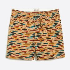 """J CREW Boxer Shorts M KAYAKS CANOES Mercantile Boats Cotton Fly Front 4"""" NWT"""