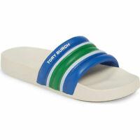 Tory Burch Women's Colorblock Stripe Slide Bondi Blue