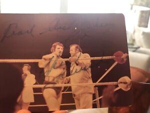 Bruno Sammartino Hand Signed Approx 3.5 X 5 Photo. Faded
