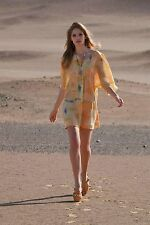 Anthropologie Maeve Summer Silk Dress Painted Ume Tunic Watercolor