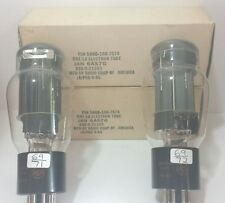 Date Matched Pair  RCA JAN  6AS7 G Vacuum Tubes Tested New On Calibrated TV - 7