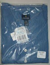 Nightshirt Long Sleep Shirt Cotton Bright Cobalt Blue Stripe Stafford Mens 4XL