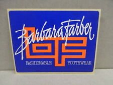 Sticker - Decal Barbara Farber Youthwear with org.back 80's (02535)