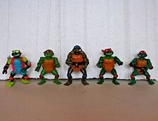 Early Teenage Mutant Ninja Turtles lot 5 action figures 1988-92