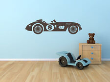 Vintage Race Car Number 8 for Boys or Childs Room Vinyl Wall Decal MADE IN USA
