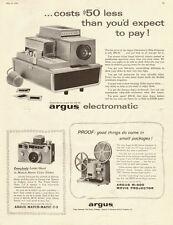 1959 vintage ad, ARGUS 'Electromatic' Slide Projectors -040813