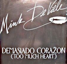 ++MINK DE VILLE demasiado corazon/river of tears MAXI PROMO 1983 ATLANTIC VG++