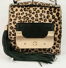 Diane Von Furstenberg Leopard Pony Hair Leather Bon Bon Harper Bag NWT $695