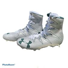 New Under Armour Green And Silver Football Cleats High Top Size 12