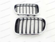 1Pair Chrome & Black Front Bumper Hood Kindey Grille for BMW F25 X3 2011-2014