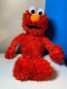 "Hasbro Sesame Street Play All Day Elmo Color Red Plush Talking Elmo 22"""