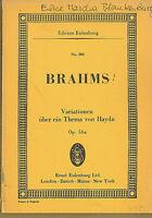 Brahms : Variationen über ein Thema von Haydn Op. 56a ~ Studienpartitur
