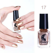 Magic Mirror Nail Polish Metallic Chrome Polish Varnish Silver Gold 17Colors