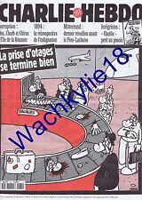 Charlie Hebdo n°131 du 28/12/1994 Prise d'otages Marignane Avion Charb Réunion