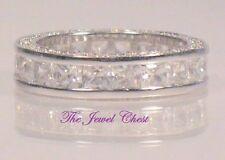 2.50 Ct Princess Diamond Eternity Band Wedding ring White Gold Channel Setting