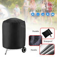 Round Waterproof BBQ Grill Cover Garden Patio Kettle Barbecue Protector 71x68cm