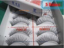 5 Box-New Original PRINCESS LEE Handmade False Fake Eyelash- X8 Black (10 Pairs)