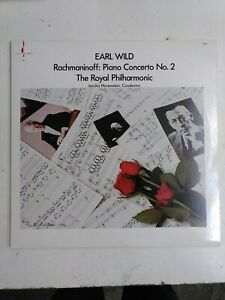 """Earl Wild - Rachmaninoff Piano Concerto No.2 1986 Chesky Records 12 """" Vinyl LP"""