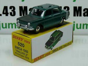 DT5E Voiture réédition DINKY TOYS atlas : 520 Simca 1000 Rallye 2