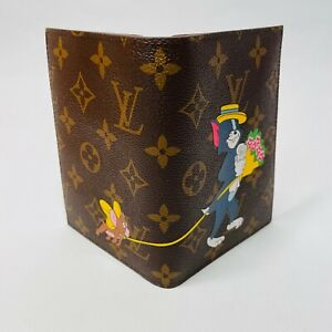 Louis Vuitton passport cover case print Tom & Jerry NEW