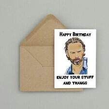 Recycled Hand Made Card The Walking Dead Rick Grimes Inspired Card