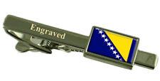 Bosnie & Herzégovine Drapeau Gravure Personnalisée Pince à Cravate