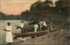 Chagres Panama Boating Trip to Cruces Native Indians c1910 Postcard