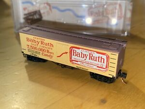 micro trains line 36' wood sheathed ice reefer Nestle Baby Ruth #7 Nadx 4537