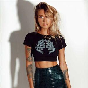 Women's Casual Short Sleeve T Shirt Fashion Crop Top Ladies Blouse Summer Top UK