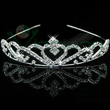 Cerchietto corona tiara strass accessori capelli acconciatura matrimonio sposa