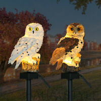 Outdoor Ornament Lawn Waterproof Statue Lamp LED Owl Solar Powered Garden Light