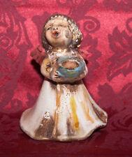 THUN Engel BOZNER Engel Kerze  9,5 cm hoch *TOP* natur+gold Weihnachten / Advent