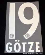 Bayern Munich Gotze 19 Football Shirt Name/Number Set 2013/14 Home