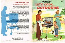 Grilling Barbeque Guide Recipe Booklet Kenmore Cook OUTDOORS 1957 Vintage GC