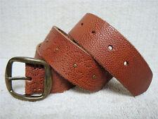 Women's Casual Fashion Belt - British Tan Brown Leather - Size XS