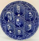ANTIQUE+ROWLAND+%26+MARSELLUS+HISTORICAL+STAFFORDSHIRE+BLUE+PLATE+AMERICAN+POETS