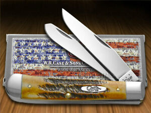 Case xx Trapper Knife Genuine 6.5 Bone Stag Handle Stainless Pocket Knives 03573