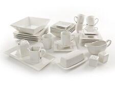 NOVA 40PC SQUARE DINNER SET DINNERWARE PLATE BOWL SIDE DISH SALT PEPPER PLATTER