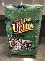 1992 FLEER ULTRA FOOTBALL FACTORY SEALED BOX, 36 PACKS