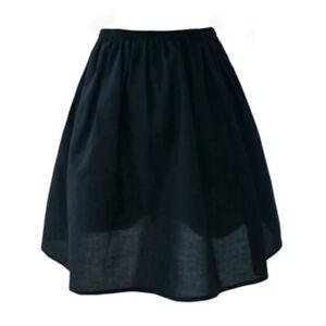 Lady A Line Elastic Waist Safety Skirts Cotton Underskirt Petticoat Half Slip