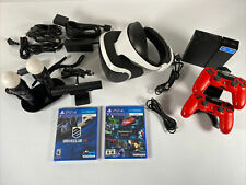 Sony PlayStation VR PS4 Virtual Reality Headset Bundle Game Free Same Day Ship