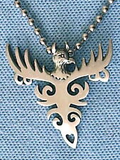PHOENIX RISING FROM THE ASHES PEWTER PENDANT NECKLACE CHAIN  PC0373