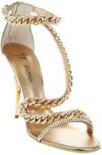 GIUSEPPE ZANOTTI For BALMAIN Gold Chain Heels 37 7 7.5 $1800