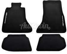 BMW 5 Series F10 F10LCI Black Floor Mats With Performance Emblem Tailored LHD