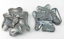 1 Schließe  Gürtelschnalle Schnalle  4,2 cm altsilber  Kolibri 07.72/362