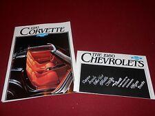 1980 CORVETTE ORIGINAL 22 by 25 POSTER BROCHURE + 80 CHEVY FULL-LINE CATALOG