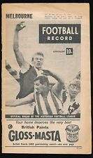 1966 VFL Football Record Melbourne v Richmond July 30 Demons Tigers