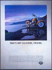 HARLEY-DAVIDSON MOTORCYCLE - Vintage 1999 Original ADVERTISEMENT. Free UK Post