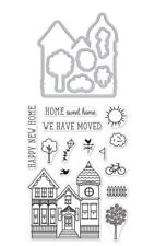 "Hero Arts Stamp & Cut ""HOUSE"" Clear Stamps With Coordinating Dies Bundle"